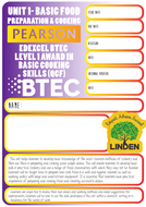 Pearson BTEC Level 1 Award in Basic Cooking Skills (QCF) All Units