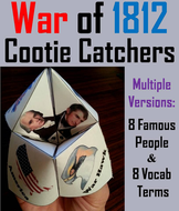 War of 1812 Cootie Catchers