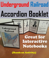 Underground Railroad Accordion Booklet