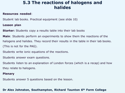 5.3-Reactions-of-the-halogens-and-halides.pptx