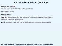 7.2-Oxidation-of-alcohol.pptx