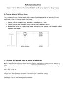 Maths Homework Activities KS1-KS2