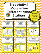 Electricity and Magnetism Differentiation Stations
