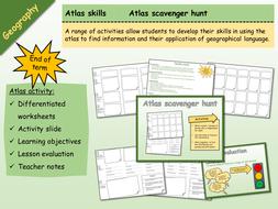 Geography - Atlas Scavenger Hunt 1