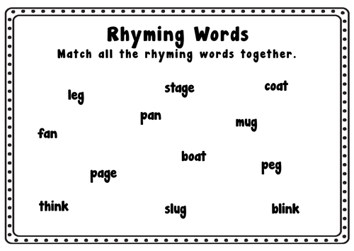 rhyming resources eyfs ks1 letters sounds bingo card games worksheets by hayleyhill. Black Bedroom Furniture Sets. Home Design Ideas