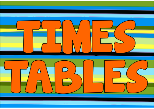 Image result for times tables title