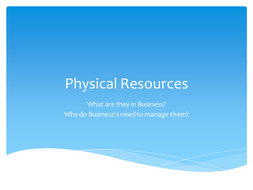 how to manage physical resources in a business