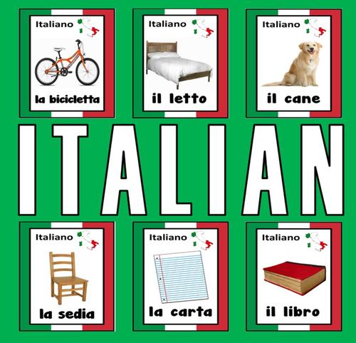 English In Italian: ITALIAN / ENGLISH LANGUAGE FLASHCARDS