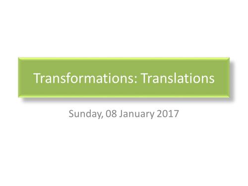 Transformations: Translations