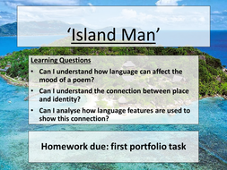 what is the poem island man about