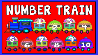 NUMBERS TRAIN- FLASHCARDS 1-100 TEACHING RESOURCES EYFS KS1 COUNTING DISPLAY