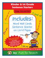 Kinder & First Grade Sentence Starters