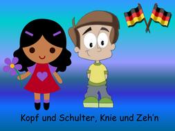 kopf schultern knie und zeh 39 n learn the german head shoulders knees and toes song by. Black Bedroom Furniture Sets. Home Design Ideas