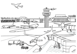airport maps coloring pages | AIRPORT ROLE PLAY TEACHING RESOURCES LITERACY DISPLAY ...