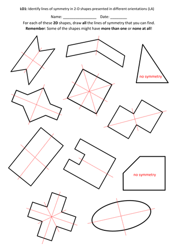 Year 4: Symmetry (5 lesson Unit of Work + Mini-Assessments