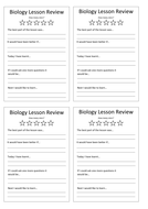 Biology Lesson Review Document