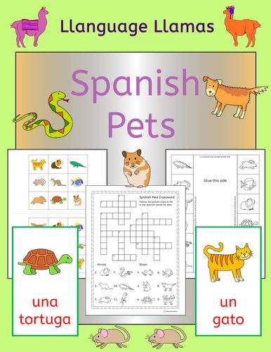 spanish pets by llanguagellamas teaching resources tes. Black Bedroom Furniture Sets. Home Design Ideas