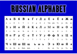 Agile image within russian alphabet printable