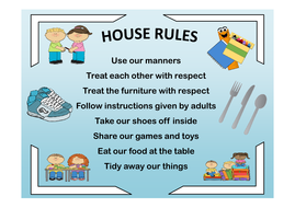 house rules posterspdf