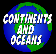 CONTINENTS AND OCEANS -GEOGRAPHY KS1-2 WORLD MAPS EARTH