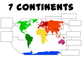 Continents and oceans geography ks1 2 world maps earth by label the continents colour worksheetpdf gumiabroncs Choice Image