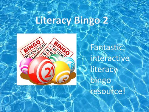 Literacy Bingo 2