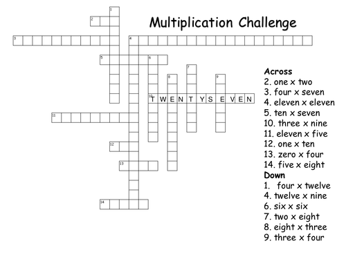 multiplication challenge worksheet array multiplication worksheets – Multiplication Challenge Worksheet