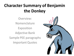 Animal Farm Character Summaries Of The Pigs Clover Benjamin And Boxer Teaching Resources