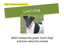 Love's Dog: Edexcel Poetry Anthology