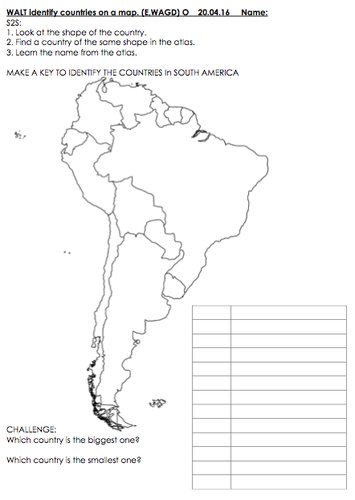 Identifying countries on a map south america focus brazil by identifying countries on a map south america focus brazil by jennyhelmer teaching resources tes publicscrutiny Gallery