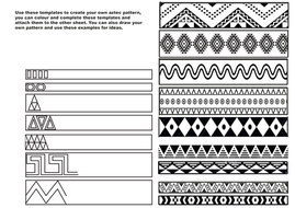 Creating Aztec Patterns   Teaching Resources