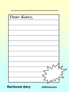 RAINFOREST-diary-template.ppt