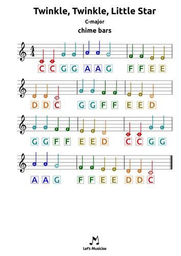 Xylophone Chords Twinkle Twinkle Little Star