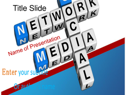 social media ppt template by templatesvision teaching resources tes