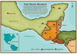 Maya World Map.Ancient Maya Teaching Resources History Key Stage 2 Display Pack By
