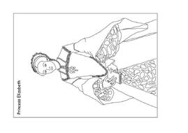 Elizabeth I Colouring Pagespdf