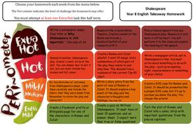 KS3 Shakespeare Takeaway Homework