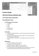 AQA 2016 PRODUCT DESIGN PRACTICE PAPER - flat pack charity collection boxes - ANSWER BOOKLET :)