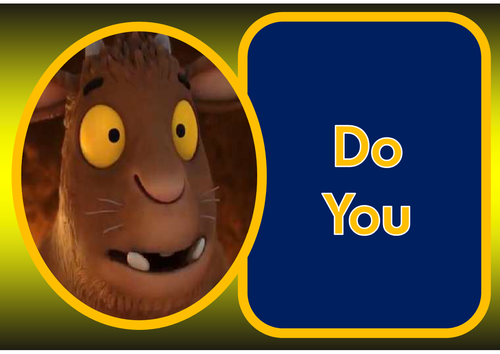 gruffalo word rhyming game instructions