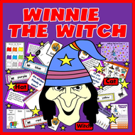 WINNIE THE WITCH STORY TEACHING RESOURCES LITERACY READING EYFS, KS 1-2 HALLOWEEN