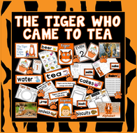 TIGER WHO CAME TO TEA STORY TEACHING RESOURCES EYFS KS1 ENGLISH MORALS FOOD