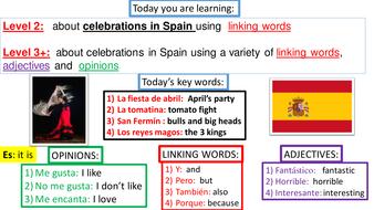KS2-KS3 SPANISH TRANSITION LESSON: CELEBRATIONS IN SPAIN