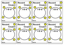 reward coupon teacher iou template 8 per page positive
