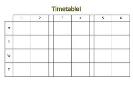 Blank timetable template can be edited electronically 6 period blank timetable template can be edited electronically 6 period day maxwellsz