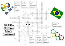 Olympic Crossword To Go On A3 WITH EVENT