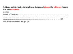 Exam Questions On Interiorspptx