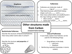 Graphene and Fullerenes (AQA Trilogy 9-1, Chemistry 9-1