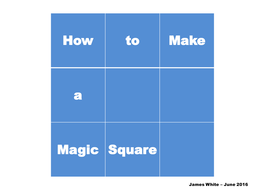 Magic Square Lesson and Activities