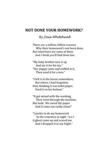 Funny poems about essays