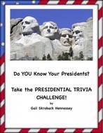 Presidential Election Trivia Challenge Activities
